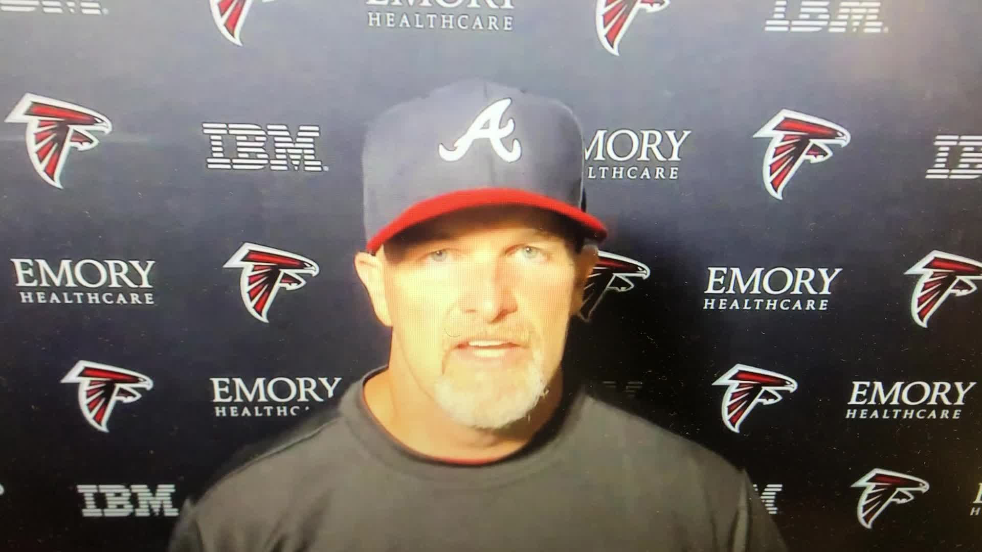 Falcons Dan Quinn Shouts Out To The Braves
